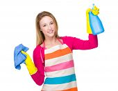 Housewife with spray and towel