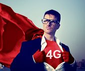 Strong Superhero Businessman 4G Concepts