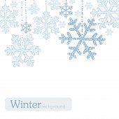 Winter snoflakes background