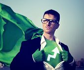 Strong Superhero Businessman Development Concepts