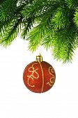 Christmas decoration isolated on the white