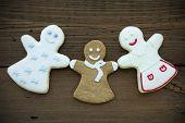 Three Happy Woman Cookies