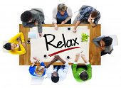 People in a Meeting and Relaxation Concept