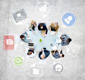 Group of Diverse Business People Discussing in a Meeting