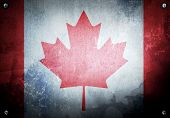 grunge background with canada flag