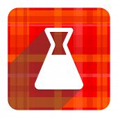 laboratory red flat icon isolated