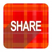 share red flat icon isolated