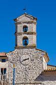 Clocktower. Cancellara. Basilicata. Italy.