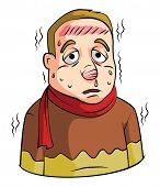 pic of high fever  - High Fever Man Editable  - JPG