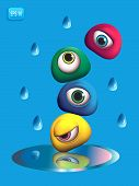 3D Monsters Eye - Rain