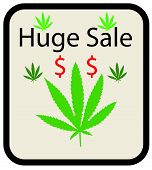 sale sign for marijuana
