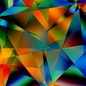 stock photo of distort  - Abstract colorful triangular pattern - JPG
