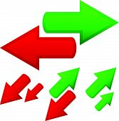 picture of opposites  - Illustration of conceptual arrows - JPG
