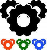 pic of cogwheel  - Eps 10 Vector Illustration of Cogwheel silhouettes - JPG