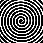 stock photo of psychodelic  - Volute spiral concentric lines circular motion rotating background - JPG