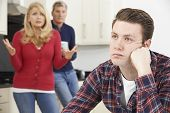 picture of mature adult  - Mature Parents Frustrated With Adult Son Living At Home - JPG