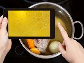 stock photo of boil  - photographing food concept  - JPG