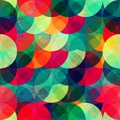 picture of pattern  - colorful circle seamless pattern with grunge effect - JPG