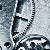 picture of clos  - very close up view on watch gears - JPG