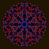 ������, ������: Abstract Flower Red Blue Green Black Dominant Color