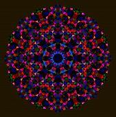 Постер, плакат: Abstract Flower Red Blue Green Black Dominant Color