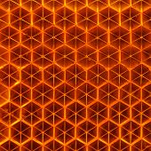 picture of refraction  - A macro shot of an orange retroreflector - JPG
