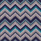 stock photo of knitwear  - Seamless geometric spokes knitted pattern - JPG