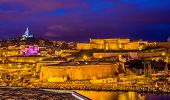 stock photo of saint-nicolas  - Night view of Fort St - JPG