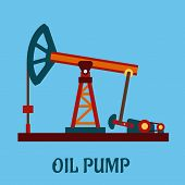 picture of petroleum  - Isolated flat oil pump icon for petroleum refining industrial design - JPG