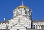 stock photo of sevastopol  - The Vladimir cathedral in Sevastopol on territory of Chersonesos - JPG