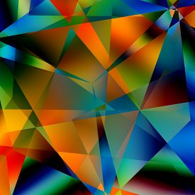 foto of distort  - Abstract colorful triangular pattern - JPG