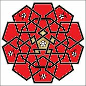 stock photo of celtic  - Vector Celtic red and black ornament - JPG