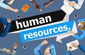 stock photo of recruitment  - Human Resources Employment Job Recruitment Concept - JPG