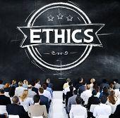 pic of ethics  - Ethics Integrity Fairness Ideals Behavior Values Concept - JPG