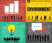 pic of environmental conservation  - Global Green Business Environmental Conservation Concept - JPG