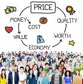 pic of indian money  - Price Economy Money Cost Value Worth Concept - JPG