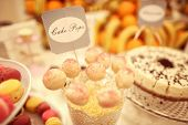 picture of cake pop  - Capture of delicious Whiet cake pops on table - JPG