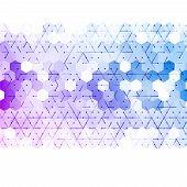 stock photo of hexagon  - Vector abstract 3d hexagonal - JPG