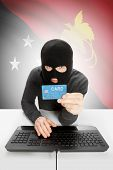 picture of guinea  - Cybercrime concept with flag on background  - JPG