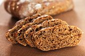 stock photo of home-made bread  - Close up of home made brown bread - JPG