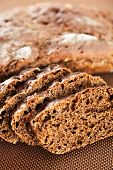 pic of home-made bread  - Close up of home made brown bread - JPG