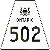 foto of trapezoid  - Canadian highway shield of Ontario highway number 502 - JPG