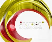 image of slogan  - Swirl line abstract background - JPG