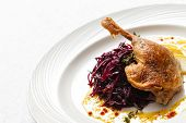 picture of roast duck  - Roast duck with beetroot - JPG