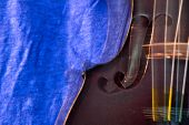 stock photo of bluegrass  - Dancing action violin background - JPG