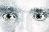 Green Male Eyes With Dilated Pupil