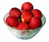 Red Apples In A Glass Bowl