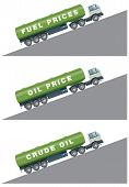 Crude oil and fuel prices rising