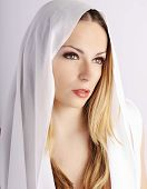 Pretty angelic woman