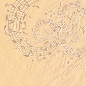 Decorative ancient music backdrop